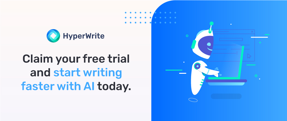 how to write content faster with HyperWrite
